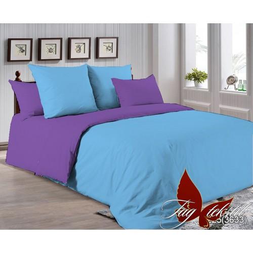 Поплиновое постельное белье полуторное TAG P-4225(3633)