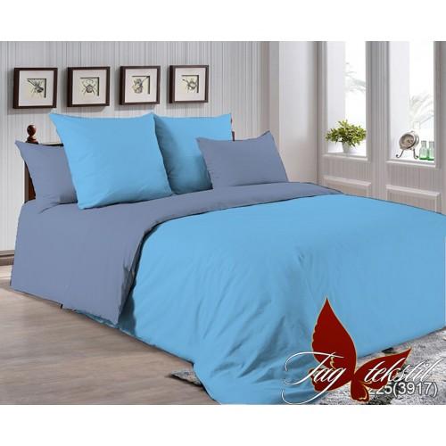 Поплиновое постельное белье полуторное TAGP-4225(3917)
