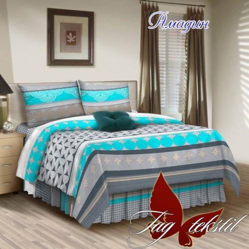 Комплект постельного белья поплин полуторное TAG Амадин