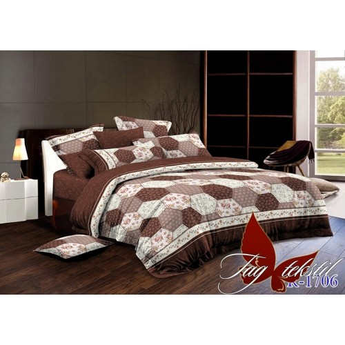 Комплект постельный полуторный ранфорс TAG R1706