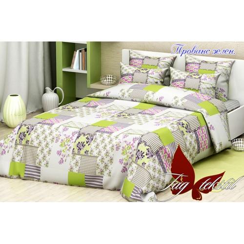 Комплект постельный полуторный ранфорс TAG Прованс зеленый