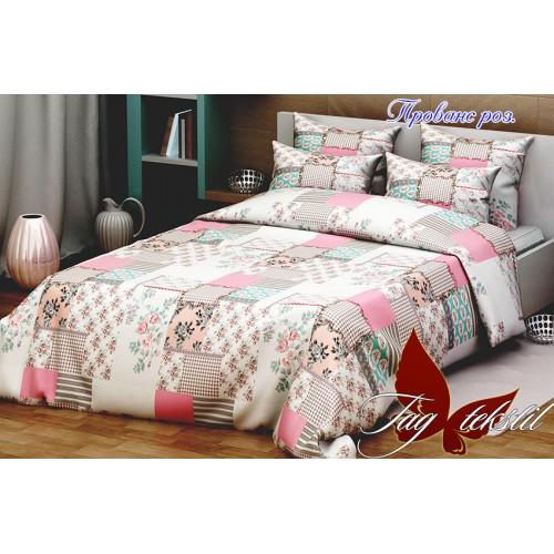 Комплект постельный полуторный ранфорс TAG Прованс розовый