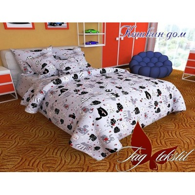 Комплект постельного белья ранфорс Кошкин дом