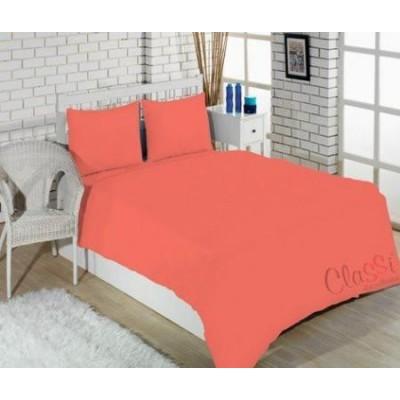 Комплект постельного белья Турция Classi полутораспальный 160Х220 Colorful Коралловый
