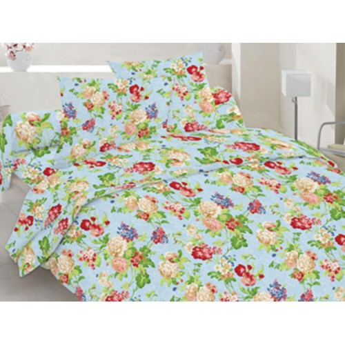 Комплект постельный полуторный 20-0083 голубой