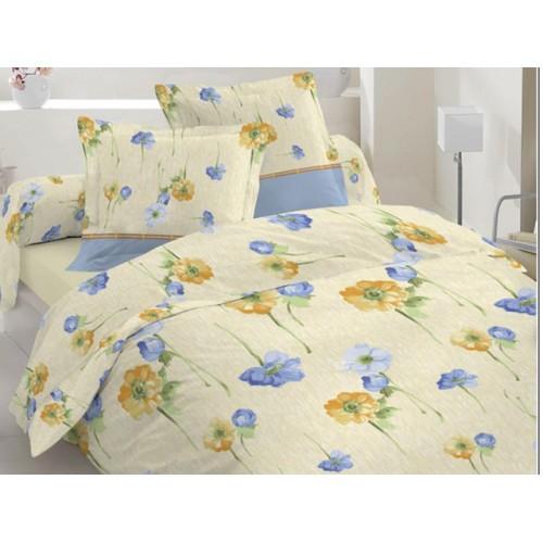 Комплект постельный полуторный 20-0325 голубой