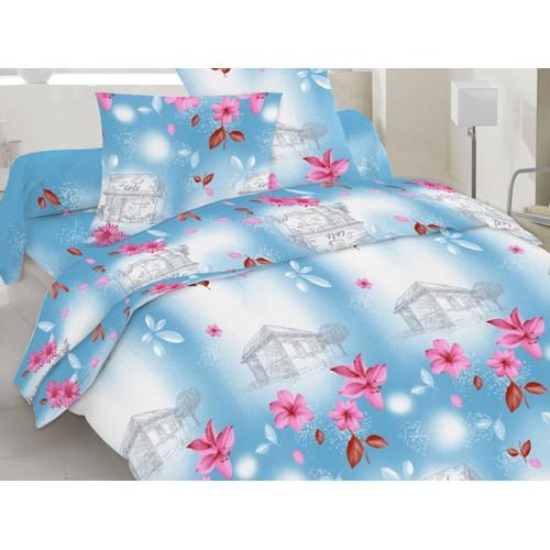 Комплект постельный полуторный 20-1080 голубой