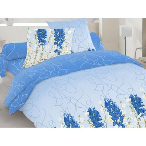 Комплект постельный полуторный 20-1138 голубой