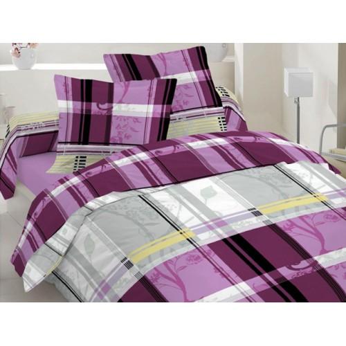 Комплект постельный полуторный 30-0247 пурпур