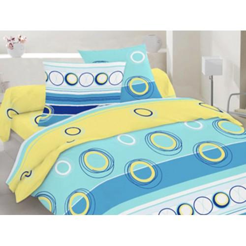 Комплект постельный полуторный 30-0266 голубой