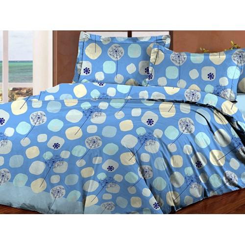 Комплект постельный полуторный 40-0607 голубой