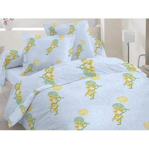 Комплект постельный полуторный 50-0012 голубой
