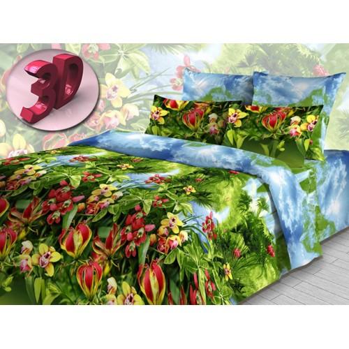 Комплект постельный полуторный Райский уголок