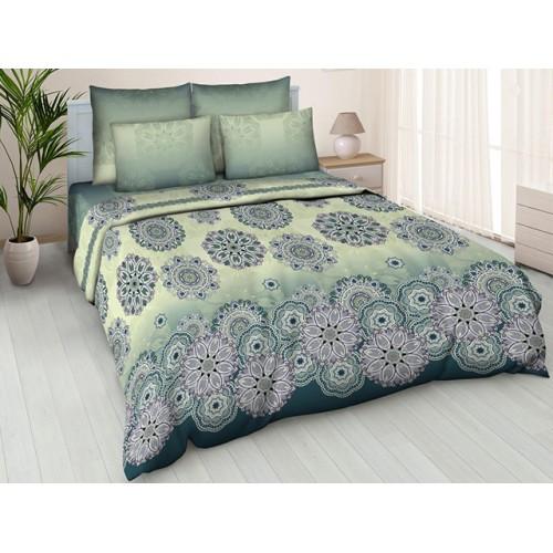 Комплект постельный полуторный Орнамент зел.