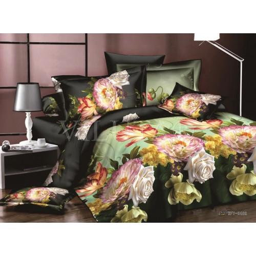Комплект постельного белья полутораспальный сатин Вилюта 482