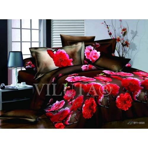 Комплект постельного белья полутораспальный сатин Вилюта 596
