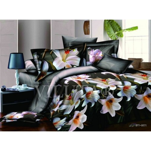 Комплект постельного белья полутораспальный сатин Вилюта 571